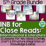 Close Reads Bundle Interactive Notebook: 5th Grade