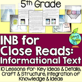 Informational Text Interactive Notebook: 5th Grade