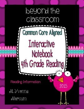 Interactive Notebook for Fourth Grade Reading Information