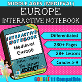 Interactive Notebook for Middle Ages (Medieval) Europe ~ C
