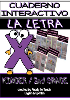 Interactive Notebook in Spanish - Letter X