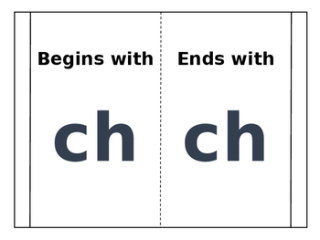 Interactive Notebook sh, ch, wh, and th words