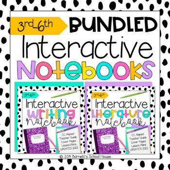 Back to School Interactive Notebooks BUNDLE CCSS for 3rd-6