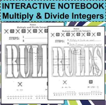 Interactive Notebook Notepage Multiply & Divide Positive N