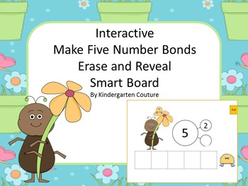 Interactive Number Bonds Sums Up to 5  Erase And Reveal Fo