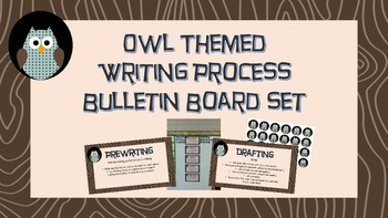 Interactive Owl Themed Writing Process Bulletin Board Set
