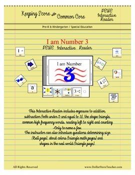 Interactive PEWE Reader - I am Number 3 - Emergent - Autis