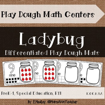 Interactive Play Dough Math Centers: Differentiated Ladybu