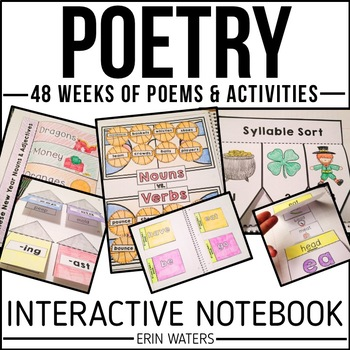 Interactive Poetry Notebook Bundle {48 Weeks of K-2 Poems
