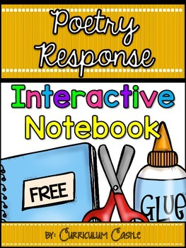 Interactive Notebook: Poetry Response for 1st and 2nd Grad