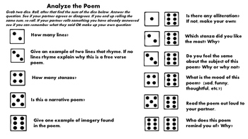 Interactive Poetry! Roll and Analyze!