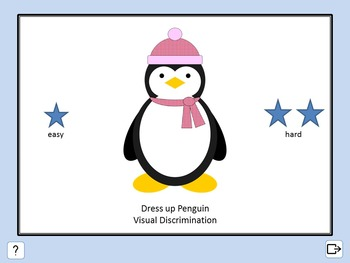 Interactive PowerPoint slide show - Dress up Penguin