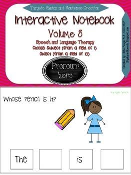 "Interactive Pronoun flip book ""HERS"" Sentence Creation & S"