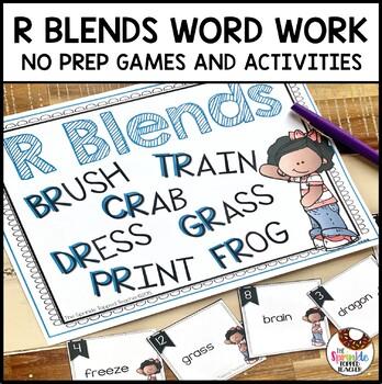 Interactive R Blends Word Work (No Prep)
