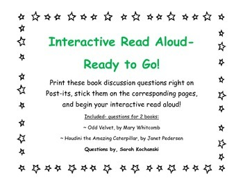 Interactive Read Aloud- Discussion Points on Post-its for