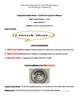 Interactive Read Aloud Lesson, Knuffle Bunny