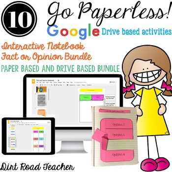 Interactive Reader's Notebook ~ Fact and Opinion Paper and