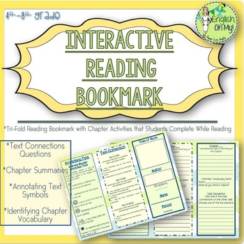 Reading Bookmark-Interactive-Text Connections, Chapter Sum