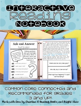 Interactive Reading Notebook Grades 3 and up