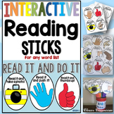 Interactive Reading Sticks - Read it and do it {for any wo
