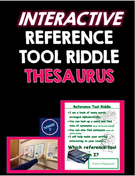 Interactive Reference Tool Riddle Thesaurus