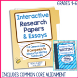 Interactive Research Papers & Essays for Common Core Writi