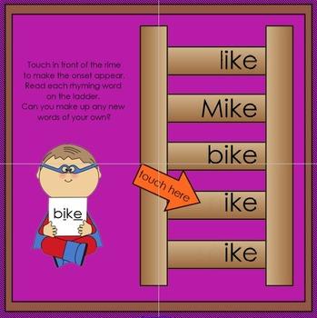 Interactive Rhyming Ladder: Long i CVCe Words