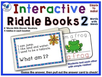 Interactive Riddle Booklets Initial Blends - Whimsy Worksh