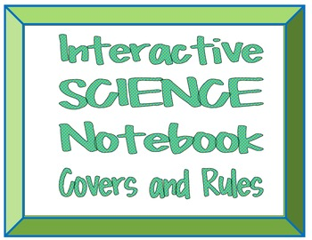 Interactive Science Notebook Covers and Rules