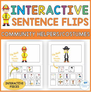 Interactive Sentence Flips - Community Helpers/Costumes -