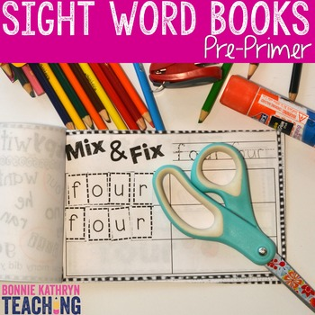 Interactive Sight Word Book-RED