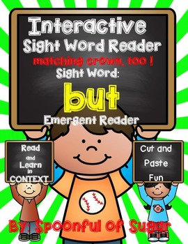 Interactive Sight Word Emergent Reader: SIght Word BUT