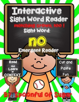 Interactive Sight Word Emergent Reader: Sight Word NO