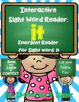 Interactive Sight Word Emergent Reader and Crown: Sight Word IT