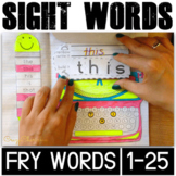 Sight Word Activities: Interactive Notebook (Fry's 1-25)