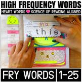 Sight Word Activities: Interactive Notebook (Fry's 1-25)