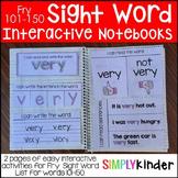 Interactive Sight Word Notebooks