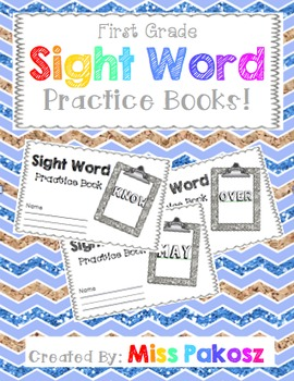 NO PREP Interactive Sight Word Practice Books - Grade 1 Ed