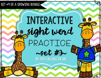 Interactive Sight Word Practice-SET #9 (activities, games,