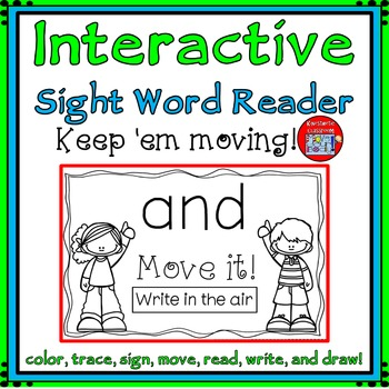 Sight Word Activity - Interactive Sight Word Reader - AND