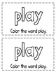 """Interactive Sight Word Reader- """"Let's PLAY Ball!"""""""