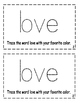 Interactive Sight Word Reader- Things I LOVE