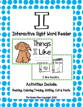 "Interactive Sight Word Reader- ""Things I Like"""