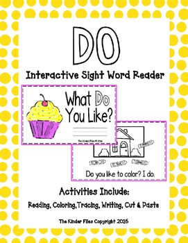 "Interactive Sight Word Reader- ""What DO You Like?"""