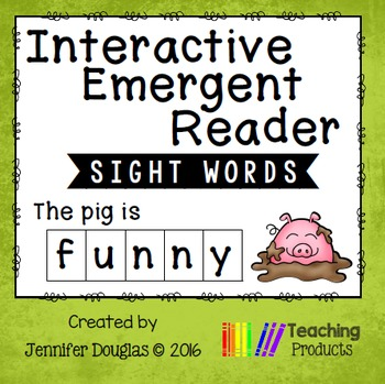 Interactive Emergent Sight Word Reader - the pig is FUNNY