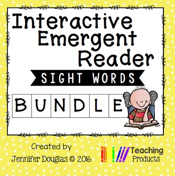 Interactive Emergent Sight Word Readers Bundle