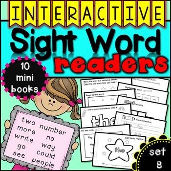 Interactive Sight Word Readers SET EIGHT {10 books}