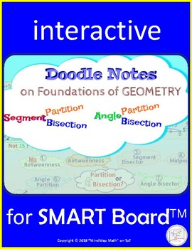 Interactive Smart Board Mind Map: Segment and Angle Bisect