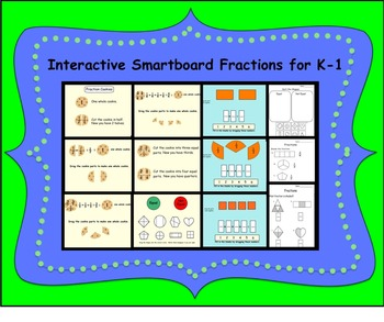 Interactive Smartboard Fractions for K-1
