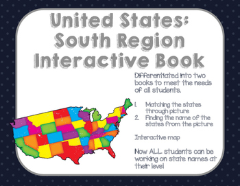 Interactive Social Studies Book: Southern Region Packet